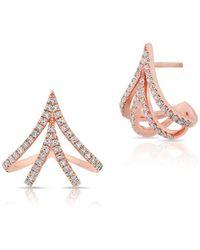 Anne Sisteron - 14kt Rose Gold Diamond Valentina Earrings - Lyst