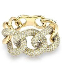 Anne Sisteron - 14kt Yellow Gold Luxe Diamond Chain Link Ring - Lyst