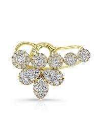 Anne Sisteron - 18kt Yellow Gold Diamond Carrie Ear Cuff - Lyst