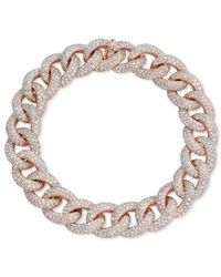Anne Sisteron 14kt Rose Gold Diamond Luxe Chain Link Bracelet - Metallic
