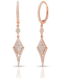 Anne Sisteron - 14kt Rose Gold Diamond Stacy Earrings - Lyst