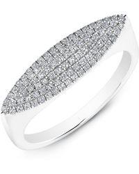 Anne Sisteron - 14kt White Gold Diamond Capri Ring - Lyst