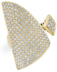 Anne Sisteron - 14kt Yellow Gold Diamond Valkyrie Ring - Lyst