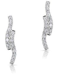 Anne Sisteron - 14kt White Gold Diamond Ripple Stud Earrings - Lyst