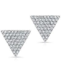 Anne Sisteron - 14kt White Gold Diamond Large Triangle Olivia Stud Earrings - Lyst