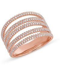 Anne Sisteron - 14kt Yellow Gold Diamond Annabella Ring - Lyst