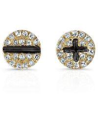 Anne Sisteron - 14kt Yellow Gold Diamond Hardware Stud Earrings - Lyst