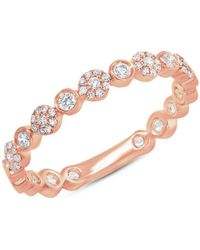 Anne Sisteron - 14kt Rose Gold Diamond Luxe Scarlet Ring - Lyst
