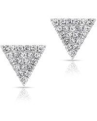 Anne Sisteron - 14kt White Gold Diamond Small Triangle Emma Stud Earrings - Lyst