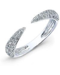 Anne Sisteron - 14kt White Gold Diamond Horn Pinkie Ring - Lyst