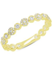 Anne Sisteron - 14kt Yellow Gold Diamond Luxe Scarlet Ring - Lyst