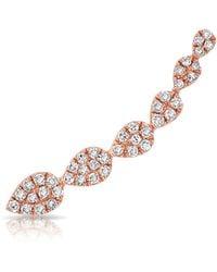 Anne Sisteron - 14kt Rose Gold Diamond Tessa Ear Climber - Lyst