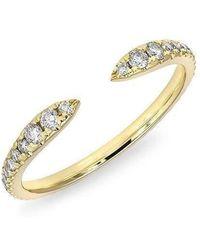 Anne Sisteron - 14kt Yellow Gold Diamond Pierce Ring - Lyst