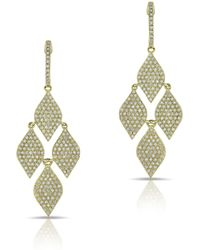 Anne Sisteron - 14kt Yellow Gold Diamond Medium Marquis Earrings - Lyst