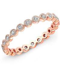 Anne Sisteron - 14kt Rose Gold Bezel Set Diamond Ring - Lyst
