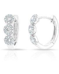 Anne Sisteron - 14kt White Gold Diamond Mila Huggie Earrings - Lyst