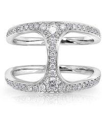 Anne Sisteron - 14kt White Gold Diamond Gleam Diamond Ring - Lyst