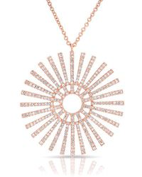 Anne Sisteron - 14kt Rose Gold Diamond Sun Rays Necklace - Lyst