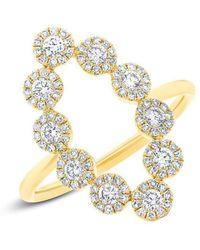Anne Sisteron - 14kt Yellow Gold Diamond Odessa Ring - Lyst