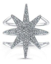 Anne Sisteron - 14kt White Gold Diamond Star Ring - Lyst