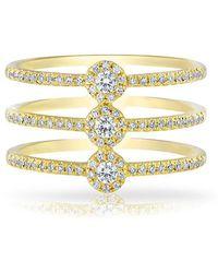 Anne Sisteron - 14kt Yellow Gold Diamond Triple Circuit Ring - Lyst