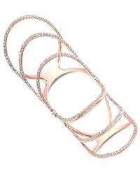 Anne Sisteron - 14kt Rose Gold Diamond Rounded Wing Hinge Ring - Lyst