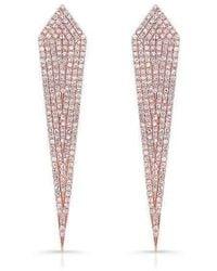 Anne Sisteron - 14kt Rose Gold Diamond Spear Earrings - Lyst
