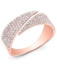 Anne Sisteron - 14kt Rose Gold Diamond Full Spike Wrap Ring - Lyst