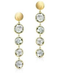 Anne Sisteron - 14kt Yellow Gold Green Amethyst Quadruple Drop Earrings - Lyst