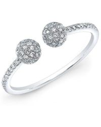 Anne Sisteron - 14kt White Gold Diamond Party Ring - Lyst