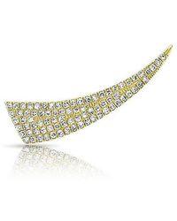 Anne Sisteron 14kt Yellow Gold Diamond Horn Ear Climber - Metallic