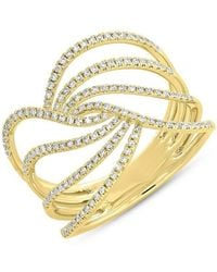 Anne Sisteron - 14kt Yellow Gold Diamond Willow Ring - Lyst