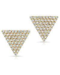 Anne Sisteron - 14kt Yellow Gold Diamond Large Triangle Olivia Stud Earrings - Lyst