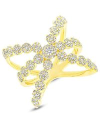Anne Sisteron - 14kt Yellow Gold Diamond Harper Ring - Lyst