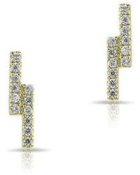 Anne Sisteron - 14kt Yellow Gold Diamond Ridge Stud Earrings - Lyst