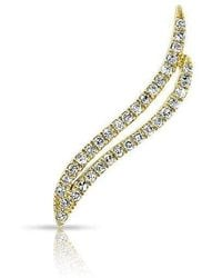 Anne Sisteron - 14kt Yellow Gold Diamond Flame Ear Climber - Lyst