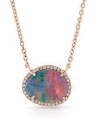 Anne Sisteron - 14kt Rose Gold Elegant Opal Diamond Necklace - Lyst