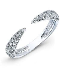 Anne Sisteron - 14kt White Gold Diamond Horn Ring - Lyst