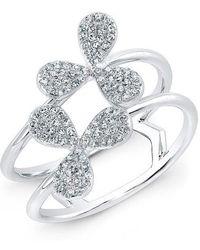 Anne Sisteron - 14kt White Gold Diamond Daisy Flower Ring - Lyst