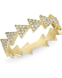 Anne Sisteron - 14kt Yellow Gold Diamond Triangle Totem Ring - Lyst