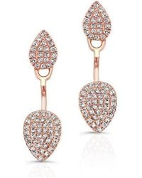 Anne Sisteron - 14kt Rose Gold Pear Shaped Floating Earrings - Lyst