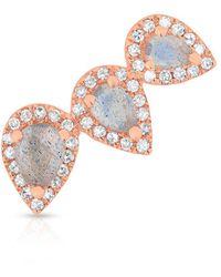 Anne Sisteron 14kt Rose Gold Diamond Labradorite Valis Ear Climber - Multicolor