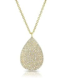Anne Sisteron - 14kt Yellow Gold Diamond Large Pear Shaped Necklace - Lyst