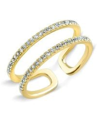 Anne Sisteron - 14kt Yellow Gold Diamond Double Bar Knuckle Ring - Lyst