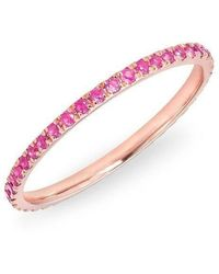 Anne Sisteron 14kt Rose Gold Pink Sapphire Eternity Stacking Ring