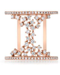 Anne Sisteron - 14kt Rose Gold Diamond Lace Lana Ring - Lyst