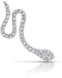Anne Sisteron - 14kt White Gold Diamond Snake Ear Climber - Lyst