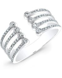 Anne Sisteron - 14kt White Gold Diamond Electric Ring - Lyst