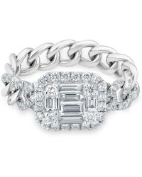 Anne Sisteron - 14kt White Gold Baguette Diamond Nikolina Ring - Lyst
