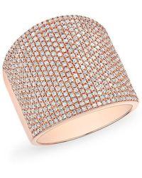 Anne Sisteron - 14kt Rose Gold Diamond Aegis Ring - Lyst